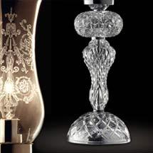 Настольные лампы хрустальные
