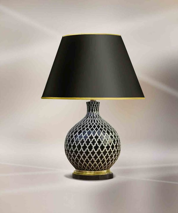 Лампа настольная «Герцогиня треф»